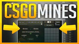 WINNING A KNIFE ON MINES! / MINE SWEEPER CSGO BETTING SITE (SNGMine)