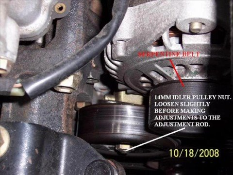 Nissan Sentra Serpentine Belt Adjustments Diy Youtube