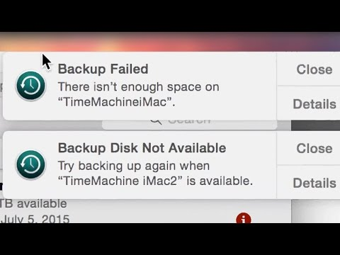 "Backup Failed ""There isn't enough space on Time Machine Hd"" - How to Fix Yosemite OS X"