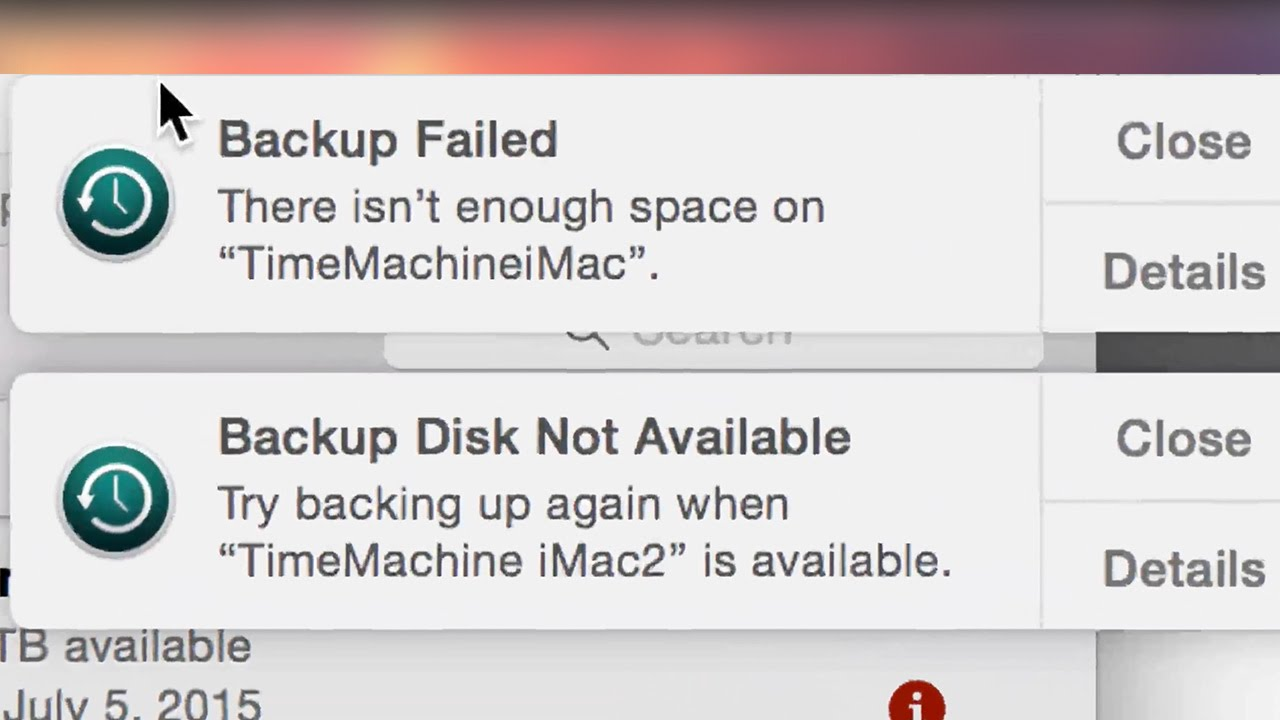 Backup Failed