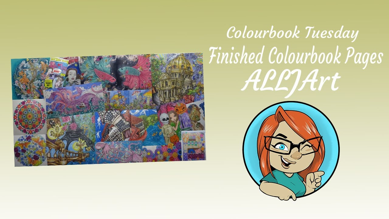 Colour book art - Finished Colour Book Pages Allj Art