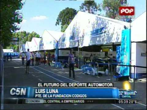 C5N - DEPORTES: LA FORMULA E EN BUENOS AIRES