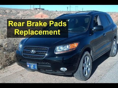 Rear brake pads replacement on a Hyundai Santa Fe SUV - Auto