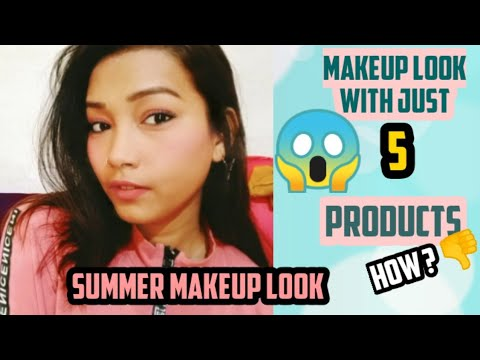 summer makeup look with just 5 products  easy beginners