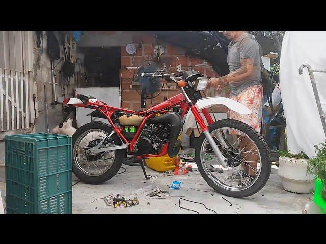 Yamaha dt 125 restaurada - ensamble