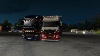 MAKAS SHOW #2 | ORTAK KONVOYUN İÇİNDEN GEÇTİK | KAZALAR | DAF XF105 | Euro Truck Simulator 2 MP