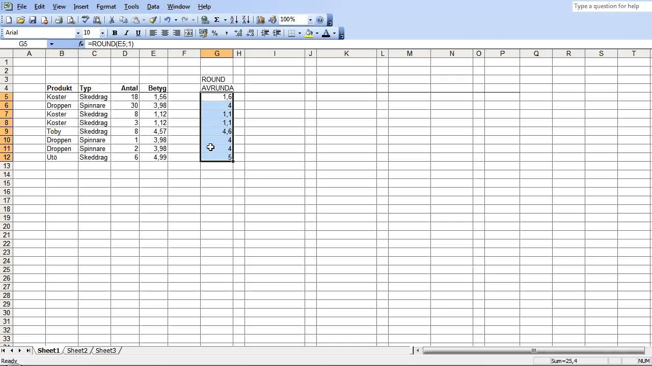 how to find c and m in excel