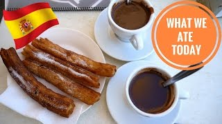 CHURROS & KINDER BUENO/OREO ICE CREAM! (Spain Day 4) | Food Diaries: What We Ate Today - Yum It