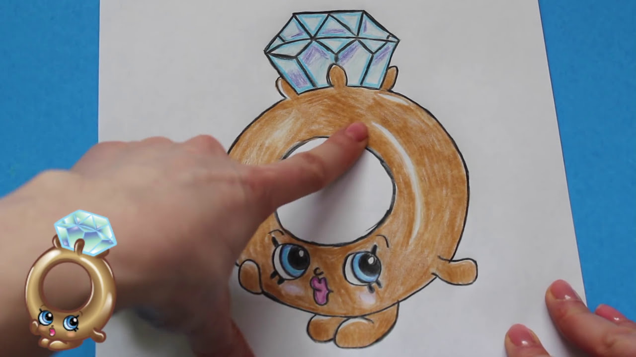 How to draw shopkins season 3 roxy ring limited edition step by step easy toy caboodle youtube