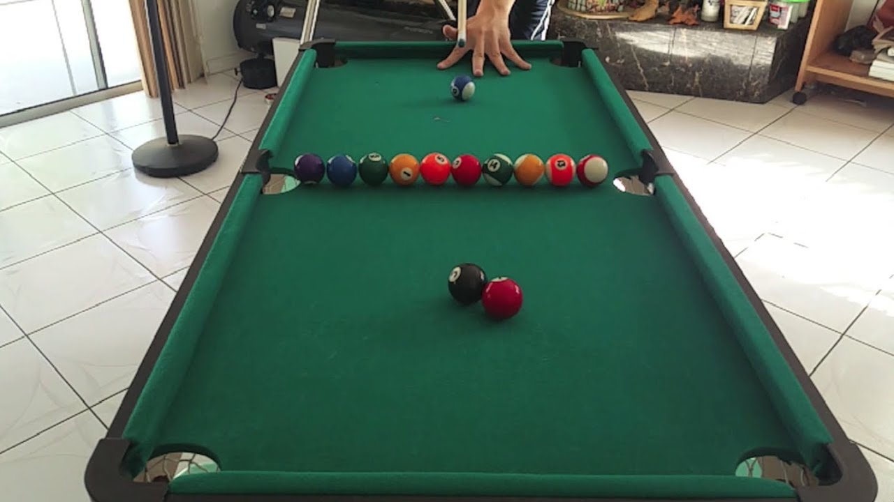 mini pool table amazing trick shots slow motion youtube. Black Bedroom Furniture Sets. Home Design Ideas