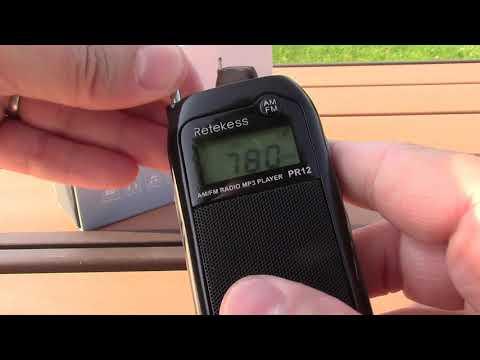 Retekess PR12 AM FM MP3 Radio