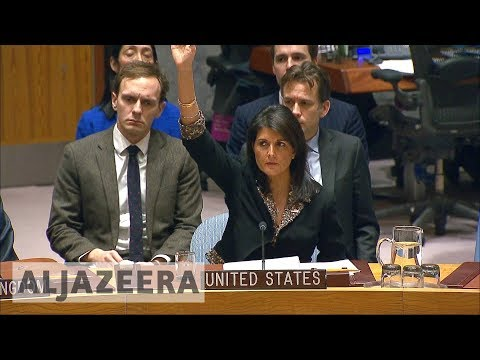 US vetoes Security Council resolution on Trump
