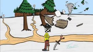 Pirates Adventure (por Favor, elija y escribir Un comentario o B)(Divertidos dibujos animados speedrawing)