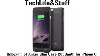 unboxing anker ultra slim extended battery case for iphone 6 and 6s