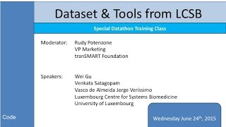 Datathon Prep Webinars:  Datasets and Tools from U Luxembourg - 24 June 2015