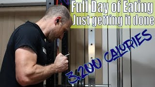 3,200 Calories Full Day of Eating | Just Getting It Done | Workout | Vlog | Strength Bulk Ep. 153