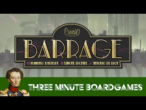 Barrage in about 3 minutes