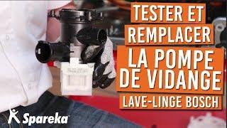 Comment tester et remplacer la pompe de vidange de votre lave linge BOSCH