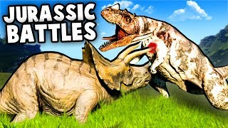 Jurassic World Evolution Gameplay - DINOSAUR FIGHTS, Escapes! (Jurassic World Evolution part 1)