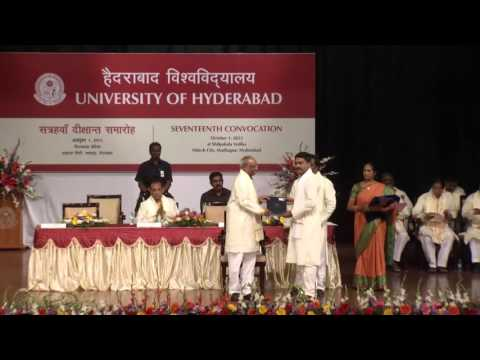University of Hyderabad XVII Convocation 2015