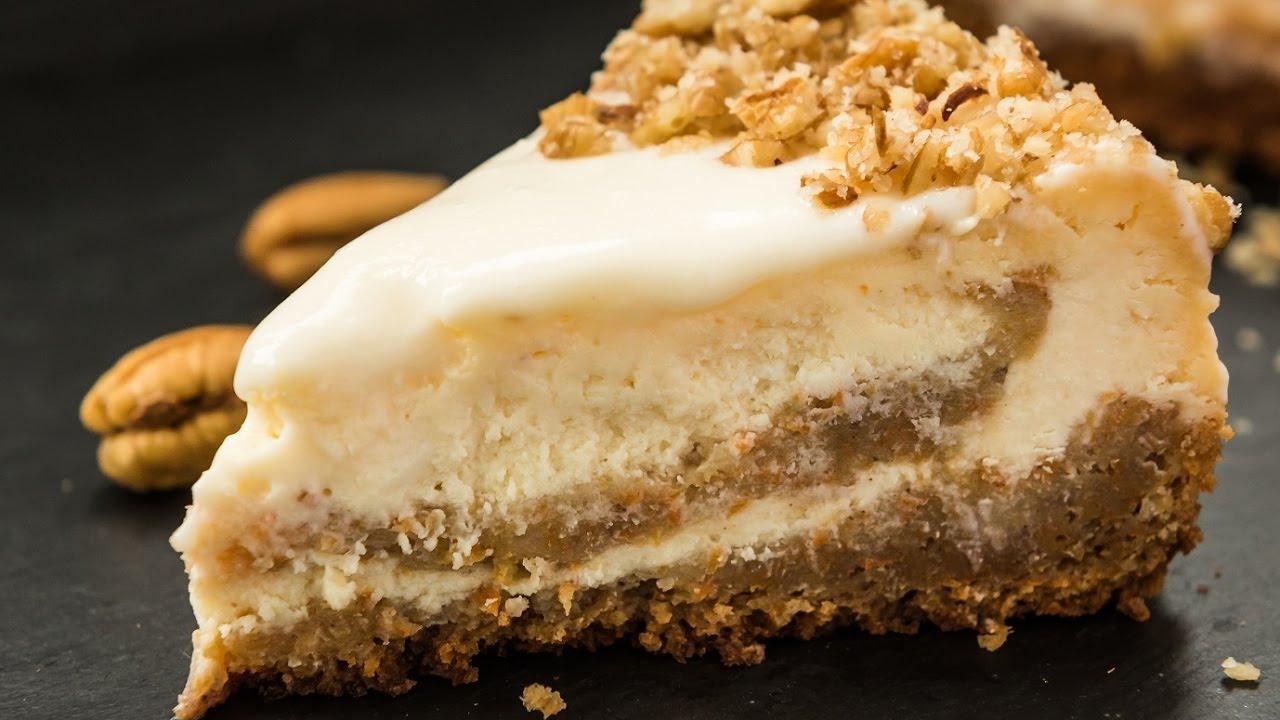 Carrot Cake Cheesecake Recipe Youtube