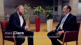 Alex Clare in conversation with Chief Rabbi Goldstein