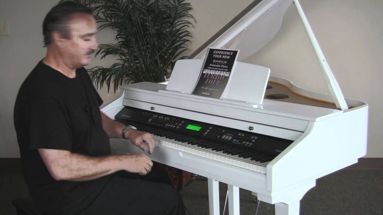 Digital Baby Grand Piano >> Samick Digital SG450 Digital Ensemble Overview - YouTube