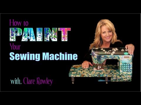 How to Paint Sewing Machine Intro