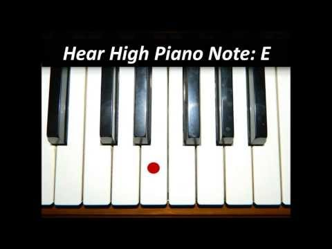 Hear Piano Note - High E