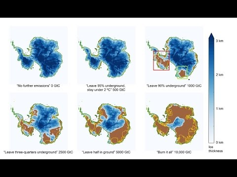"Study of Antarctic Ice and Fossil Fuels: ""Burn it all, Lose it All"""