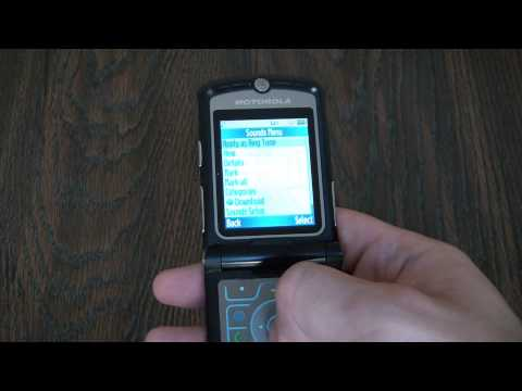 Motorola Razr V3 Cell Phone Change And Access Ring Tones Tutorial