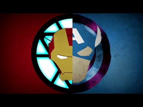 Making an Iron Man VS CaptainAmerica Wallpaper