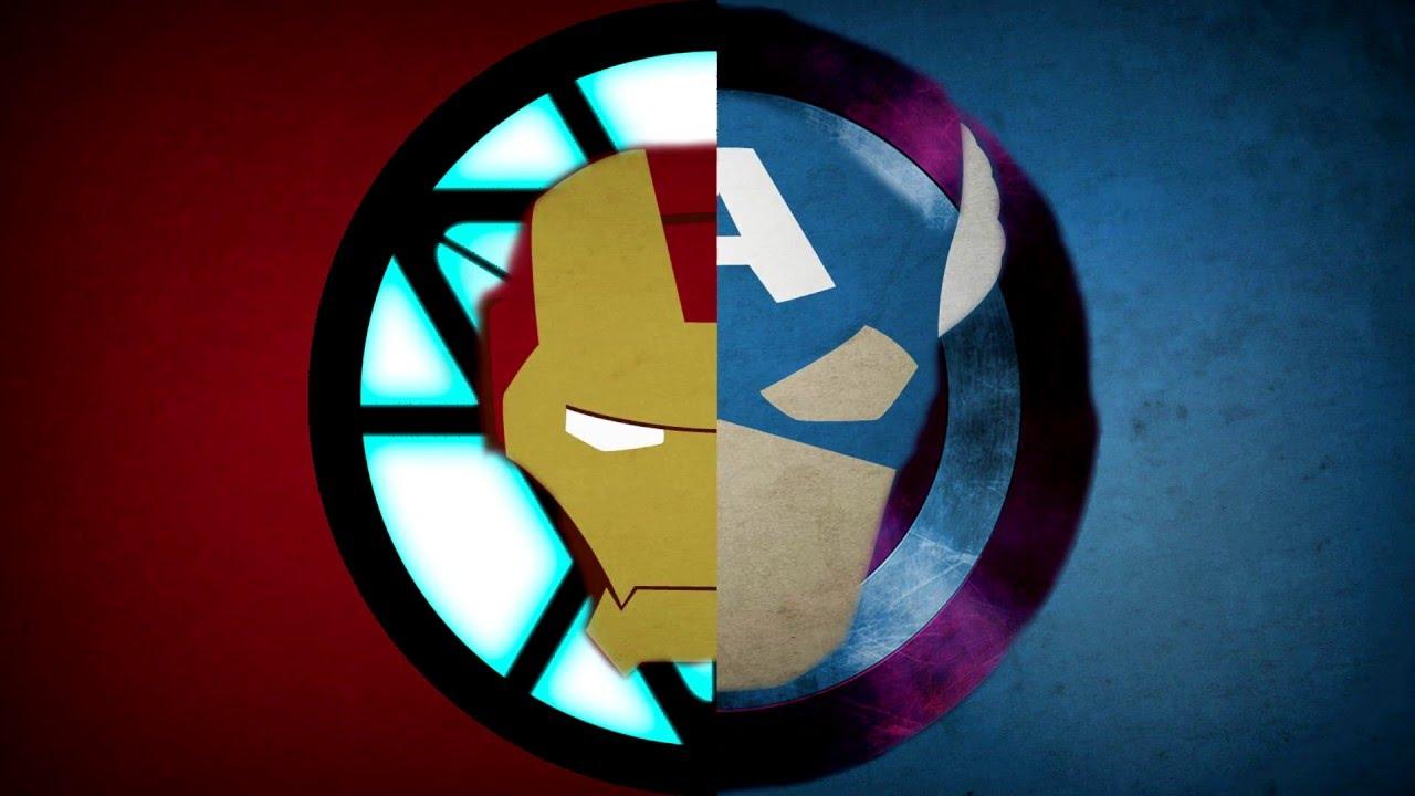 Making An Iron Man Vs Captainamerica Wallpaper Youtube