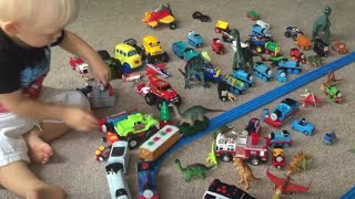 learning with colors animals dinosaurs hot wheels little bus monster trucks trains