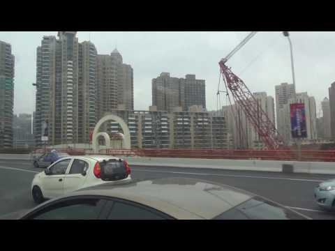 Drive along Shanghai's elevated highways (1)