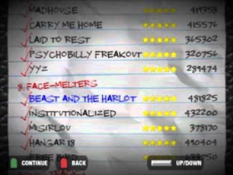 Guitar Hero 2 64/64 FCs Setlist Scroll-GH2 FGFC