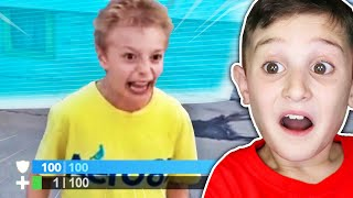 KID REACTS TO FUNNIEST FORTNITE MEMES - TRY NOT TO LAUGH CHALLENGE #7