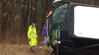 RAW VIDEO: Northway bus crash