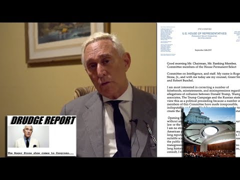 "Roger Stone Full Statement to Congress House Intelligence Committee ""Russia Probe"" 9/26/2017"