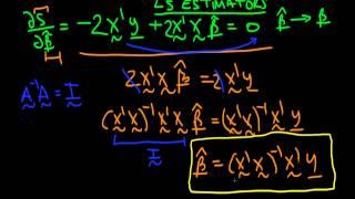 Ordinary Least Squares Estimators Derivation In Matrix Form Part 3