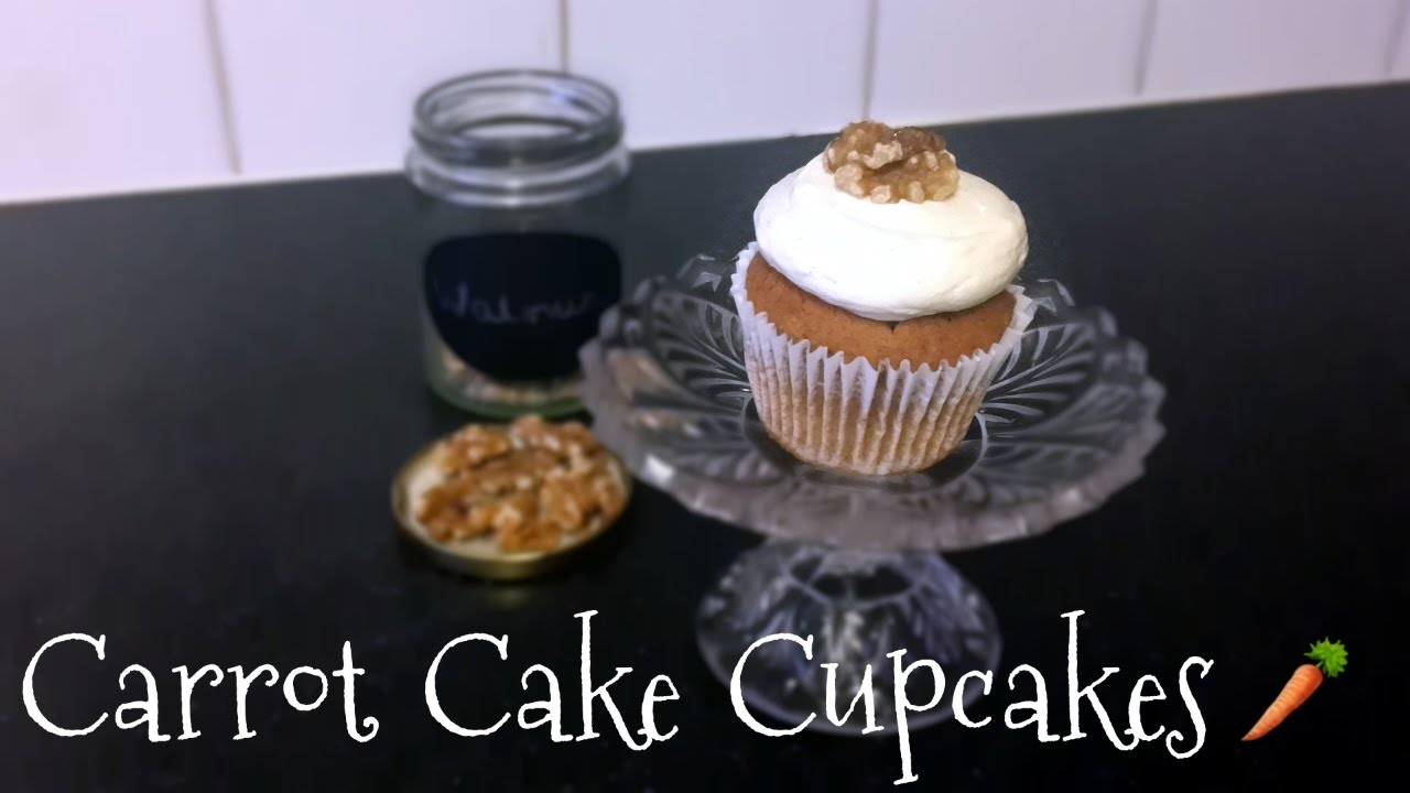 Carrot Cake Cupcakes with Cream Cheese Icing - YouTube
