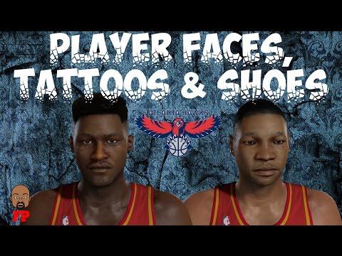 NBA 2K17 - 1985-86 Atlanta Hawks - Player Faces, Tattoos and Shoes