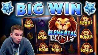 BIG WIN on Elemental Beasts Slot - £6 Bet!