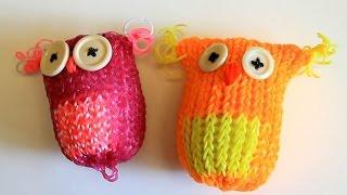 Плетение совы из цветных резиночек