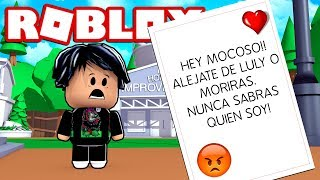 Ein LOCO ACOSADOR LEAVES A LETTER TO BEBE DERANK. EXE in ROBLOX 😱