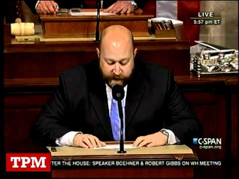 Reading Of Chris Lee's Resignation On The House's Floor