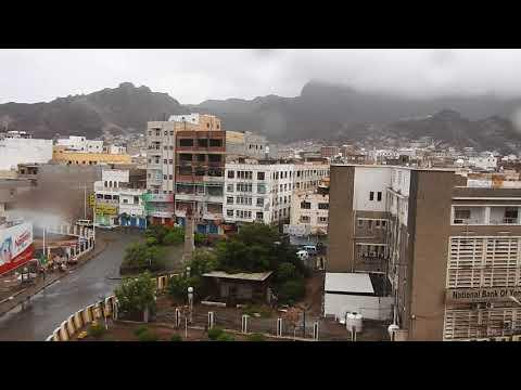 منظر رائع لمدينة عدن من فوق الكنيسة