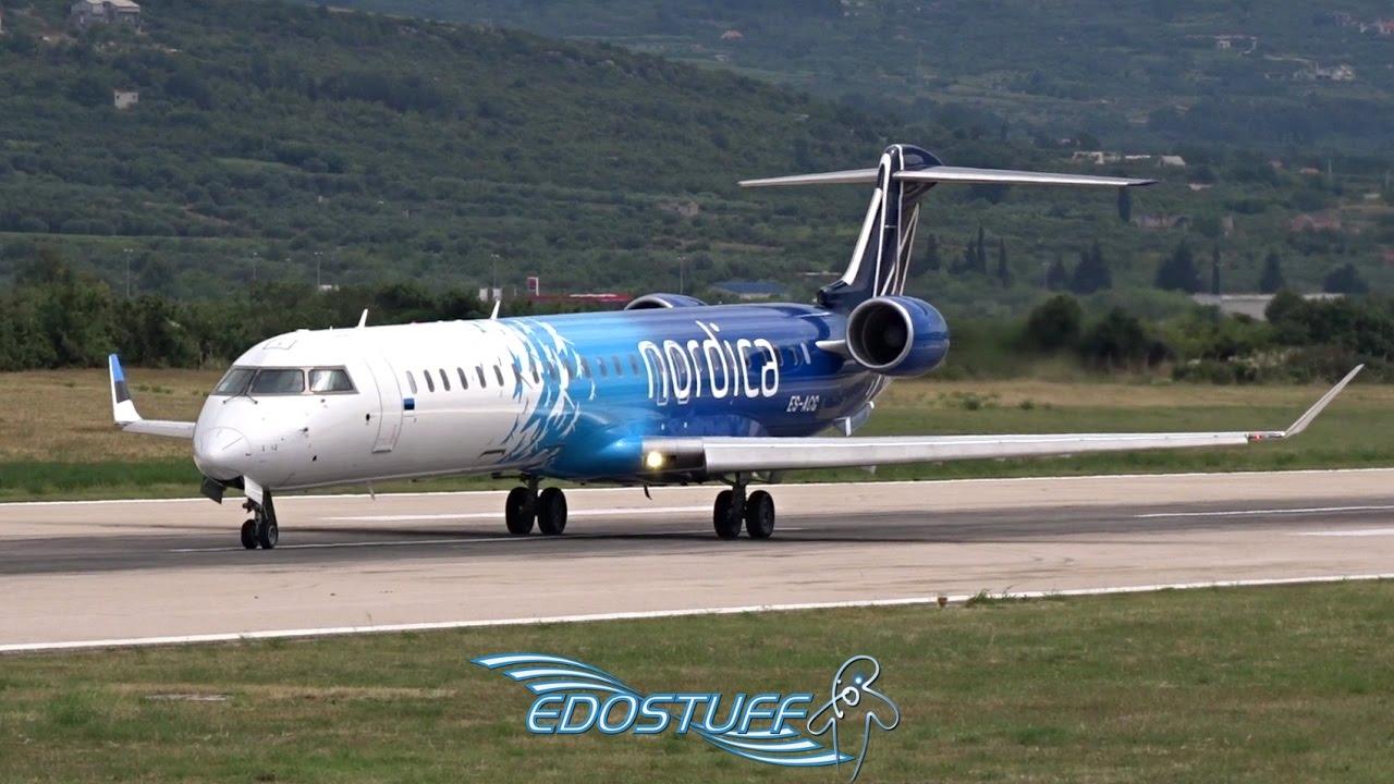 Nordica - Bombardier CRJ-900 NG ES-ACG - Takeoff from Split Airport LDSP/SPU