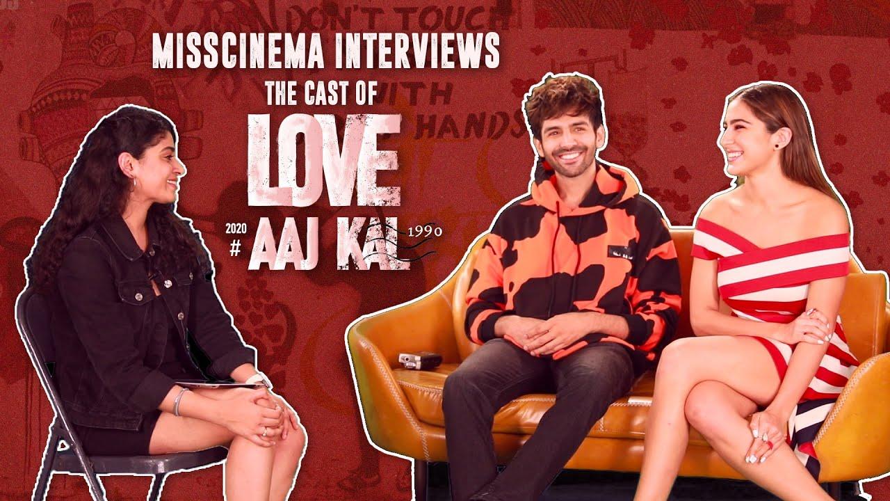 Download MissCinema   Interview with Kartik Aaryan and Sara Ali Khan   Love Aaj Kal