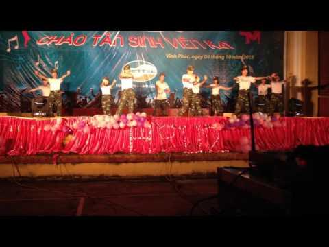 nhảy dân vũ trường đại học sư phạm Hà Nội 2 khoa QP